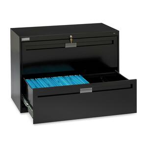 TNNLPL4224L21BK - Tennsco LPL4224L21 Lateral File Cabinet with Retractable Doors