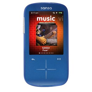 Sandisk Fuze Plus 8GB Mp3 Player Blue - Sdmx20r-008GB-a57