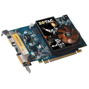 ZOTAC ZT-85TEG2P-FSR GeForce 8500GT Graphics Card