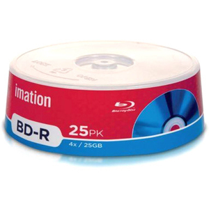 Imation 27793 Blu-ray Recordable Media - BD-R - 4x - 25 GB - 25 Pack Spindle