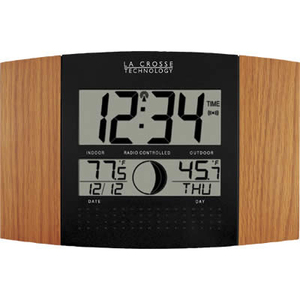 La Crosse Technologies WS-8117U-IT-OAK LC Atomic Digital Wall Clock