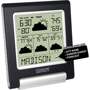 La Crosse Technologies WD-3106UR-B WD 4 Day Forecast Black/Silver