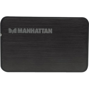 Manhattan 130196 Drive Enclosure - External - Black