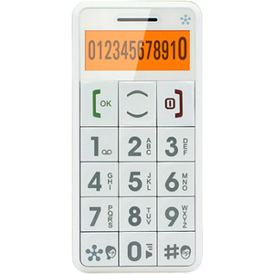 Just5 J509WHITE - Cell Phone - White