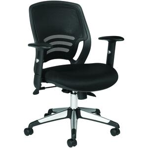 CHAIR S-TILT L/B BLACK PACER QUILT