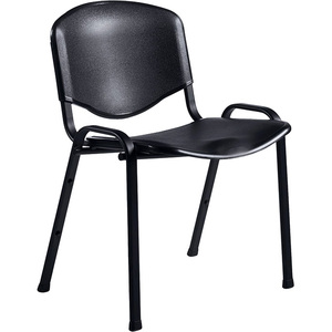 CHAIR,STACKING,ARMLESS,PL ASTIC,FLEXON,BLACK