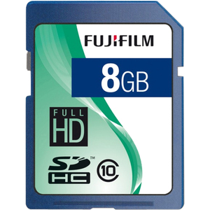 FujiFilm 600008927 SECURE DIGITAL, 8GB SDHC, CL10 Flash Storage