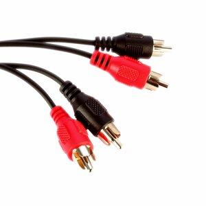 Videk 2 Phono Plugs to 2 Phono Plugs 10Mtr