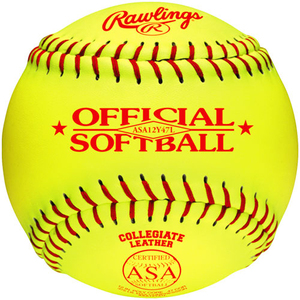"Rawlings ASA12Y47L-DZ Softball Fast Pitch 12"" 12Pk"