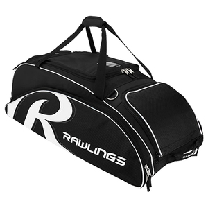 Rawlings AAPEB2-B Wheeled Bat Bag - Black
