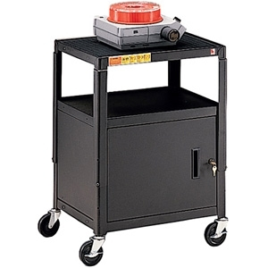 Bretford CA2642 Height Adjustable A/V Cart With Cabinet