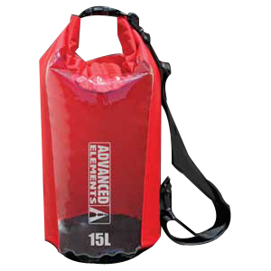 Advanced Elements AE3004 ROLLTOP DRY BAG - 15L RED Camping