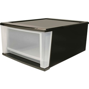 Iris SD-40 Large Stacking Drawer - 1 Drawer(s) - Polypropylene - Black Body