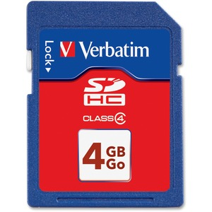Verbatim 4 GB Secure Digital High Capacity (SDHC) - 1 Card