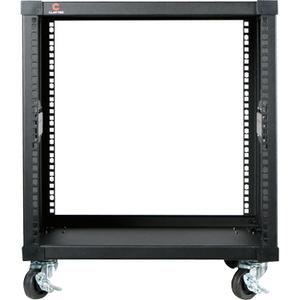 Claytek 10U 450mm Depth Simple Server Rack - 10U Wide - Black - 220 lb x Maximum Weight Capacity