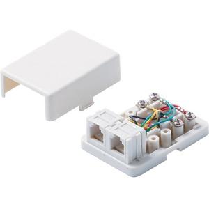 Steren Phone Faceplate Module - White - 2 x RJ-11 Port(s)