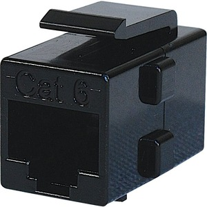 Steren Cat.6 In-Line Cable Coupler Adapter - Black