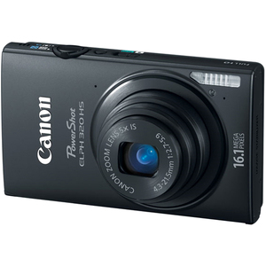 Canon 6024B001 PowerShot ELPH 320HS Black 16.1MP Camera Hardware