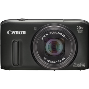 Canon 5900B001 PowerShot SX260 HS Black 12.1MP 25mm Camera Hardware