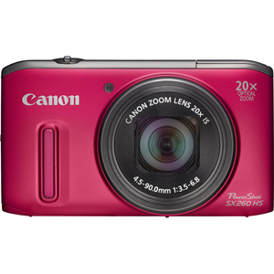Canon 6195B001 PowerShot SX260 HS Red 12.1MP 25mm Camera Hardware