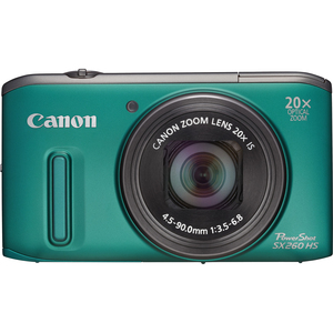 Canon 6196B001 PowerShot SX260 HS Green 12.1MP 25mm Camera Hardware