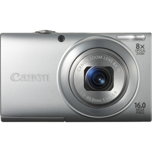 Canon 6148B001 PowerShot A4000 IS Silver 16MP 8xOpt Camera Hardware