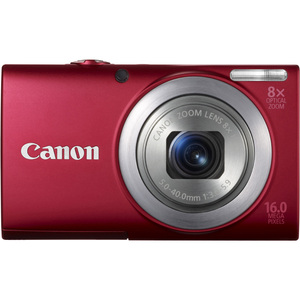 Canon 6150B001 PowerShot A4000 IS Red 16MP 8x Opt Camera Hardware