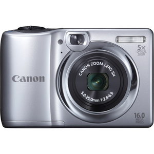 Canon 6177B001 POWERSHOT A1300 SILVER 16MP 5X OPT Camera Hardware