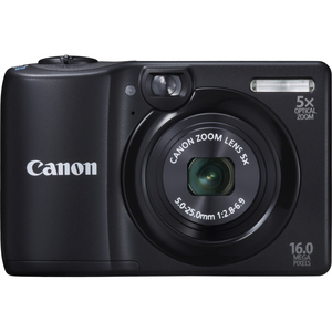 Canon 6178B001 Powershot A1300 Black 16MP 5X OPT Camera Hardware