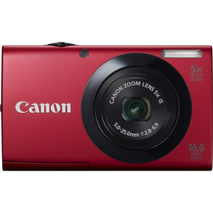 Canon 6186B001 PowerShot A3400 IS Red 16.0MP 3.0
