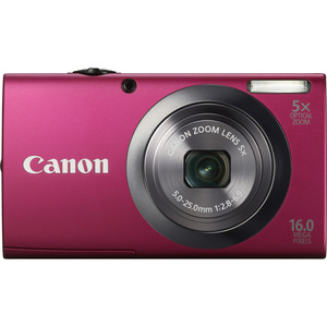 Canon 6192B001 PowerShot A2300 Red 16MP Camera W/ Camera Hardware