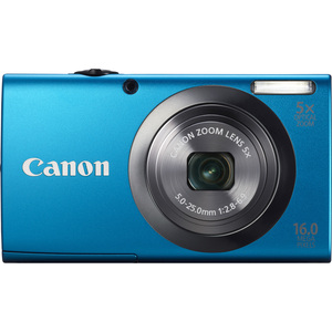 Canon 6193B001 PowerShot A2300 Blue 16MP Camera W/ Camera Hardware