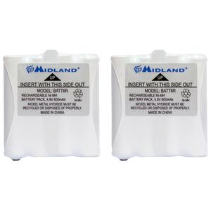 Midland AVP8 Two-way Radio Battery - 600 mAh - Nickel Metal Hydride (NiMH) - 4.8 V DC - 2 / Pack