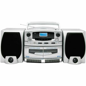 Supersonic Portable MP3/CD Player With Cassette Recorder, AM/FM Radio & USB Input