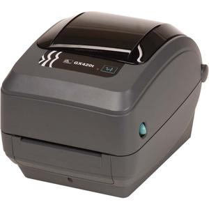"Zebra GX420t Thermal Transfer Printer - Monochrome - Desktop - Label Print - 4.09"" Print Width - 6 in/s Mono - 203 dpi - 8 MB - Bluetooth - USB - Serial - LCD - 4.25"" Label Width - 39"" Label Length"