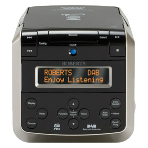 Roberts DAB / FM / CD Stereo Clock Radio with CD Bookmark