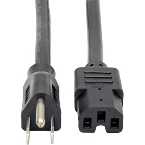 Tripp Lite 4ft Power Cord Cable 5-15P to C15 Heavy Duty 15A 14AWG 4' - (NEMA 5-15P to IEC-320-C15) 4-ft.