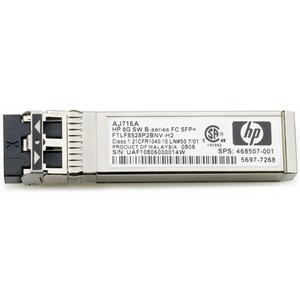 HP AJ716A 8Gb Shortwave B-Series Fibre Channel 1 Pack SFP+ Transceiver