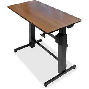 TABLE, ERGOTRON WORKFIT-D SIT-STAND, 47X23,WALNUT