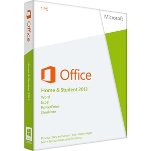 Microsoft Office 2013 Home & Student 32/64-bit - License and Media - 1 PC - Office Suite - Non-commercial Box - PC - English