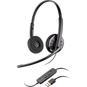 Plantronics Blackwire C320-M Headset - Stereo - USB - Wired - Over-the-head - Binaural - Supra-aural - Noise Cancelling Microphone