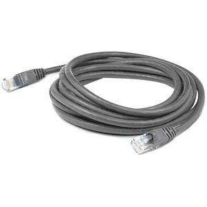 AddOn 100ft Gray Molded Snagless Cat6A Patch Cable