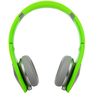 Monster Cable DNA On-Ear Headphones Silver on Neon Green Multilingual