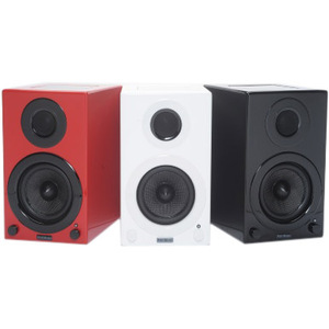 AktiMate Micro - 2-Way Active Bookshelf Speakers(Red)