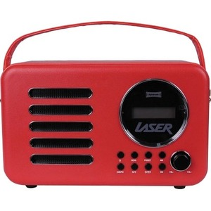 LASER DAB+ Portable Leather-look Red