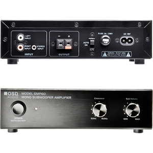 OSD Audio SMP60 Amplifier - 40 W RMS - 1 Channel - Black - 50 Hz to 150 kHz