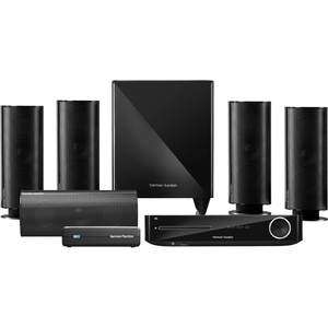 Harman Kardon 5.1 Blu-ray 3D System with 200-Watt Wireless Subwoofer, Bluetooth and AirPlay