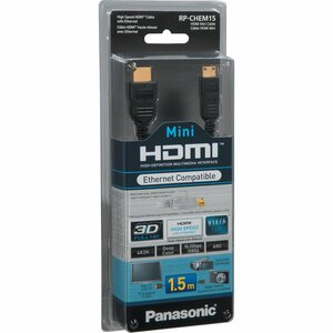 Panasonic RP-CHEM15E-K 1.5m Mini High Speed HDMI Cable