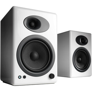 Audioengine A5+ Powered Speakers, White