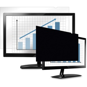 "Fellowes PrivaScreen Blackout Privacy Filter - 20.0"" Wide Black, Crystal Clear - For 20""LCD Monitor - TAA Compliant"